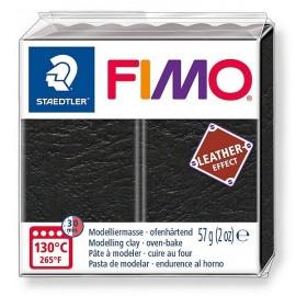 PATE FIMO 909 - EFFET CUIR NOIR - Jouets56.fr - Magasin jeux et jouets dans Morbihan en Bretagne