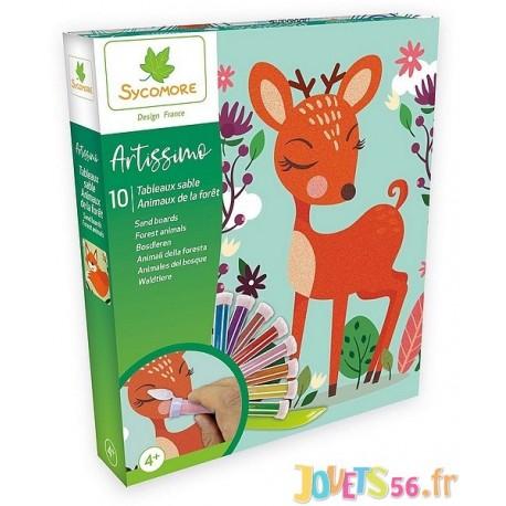 COFFRET SABLE ANIMAUX FORET ARTISSIMO 10 TABLEAUX - Jouets56.fr - Magasin jeux et jouets dans Morbihan en Bretagne