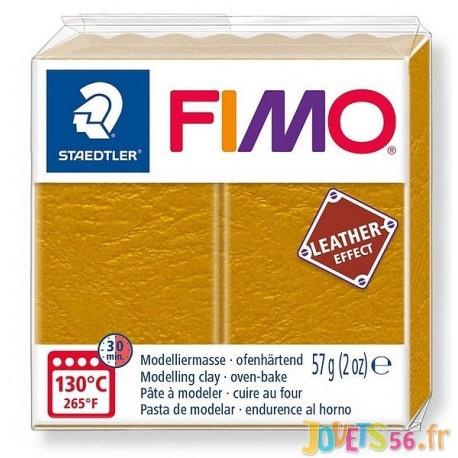 PATE FIMO 179 - EFFET CUIR OCRE - Jouets56.fr - Magasin jeux et jouets dans Morbihan en Bretagne