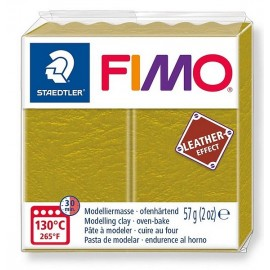 PATE FIMO 519 - EFFET CUIR OLIVE - Jouets56.fr - Magasin jeux et jouets dans Morbihan en Bretagne