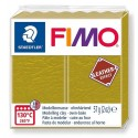 PATE FIMO 519 - EFFET CUIR OLIVE