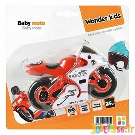 BABY MOTO A FRICTION ASST - Jouets56.fr - Magasin jeux et jouets dans Morbihan en Bretagne