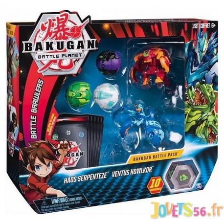 PACK DE 5 FIGURINES BAKUGAN BATTLE PACK ASST - Jouets56.fr - Magasin jeux et jouets dans Morbihan en Bretagne