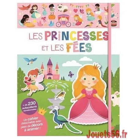 LES PRINCESSES ET LES FEES CAHIER AUTOCOLLANTS-jouets-sajou-56