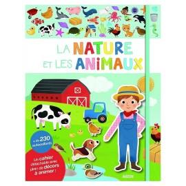 LA NATURE ET LES ANIMAUX CAHIER AUTOCOLLANTS-jouets-sajou-56