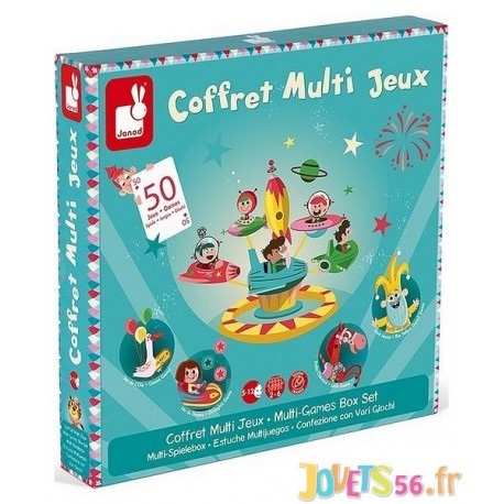 COFFRET MULTI JEUX 50 JEUX - Jouets56.fr - Magasin jeux et jouets dans Morbihan en Bretagne