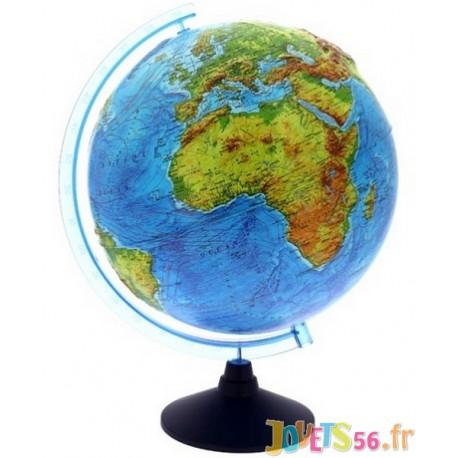 GLOBE TERRESTRE 32CM AVEC RELIEFS ET INTERACTIF - Jouets56.fr - Magasin jeux et jouets dans Morbihan en Bretagne
