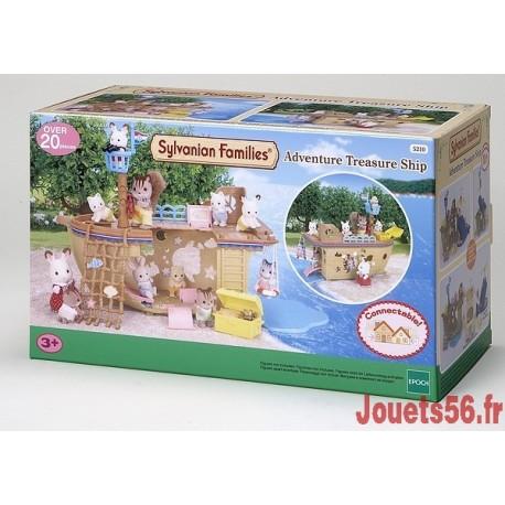 BATEAU CHASSE AU TRESOR SYLVANIAN-jouets-sajou-56