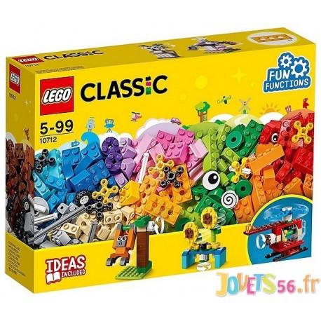 10712 BOITE BRIQUES ET ENGRENAGES LEGO CLASSIC 244 PCES - Jouets56.fr - Magasin jeux et jouets dans Morbihan en Bretagne