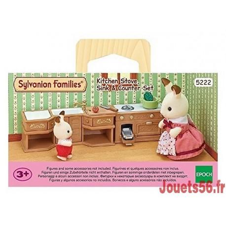 CUISINE AMENAGEE SYLVANIAN-jouets-sajou-56