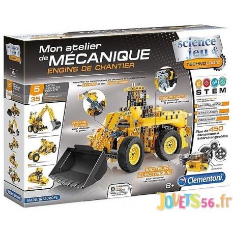 ENGINS DE CHANTIER ATELIER DE MECANIQUE 5 MODELES - Jouets56.fr - Magasin jeux et jouets dans Morbihan en Bretagne