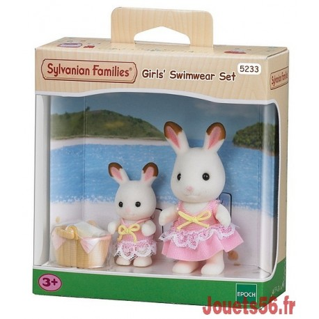 SOEURS LAPIN CHOCOLAT BORD DE MER SYLVANIAN-jouets-sajou-56