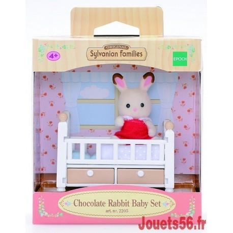 BEBE LAPIN CHOCOLAT-LIT SYLVANIAN-jouets-sajou-56