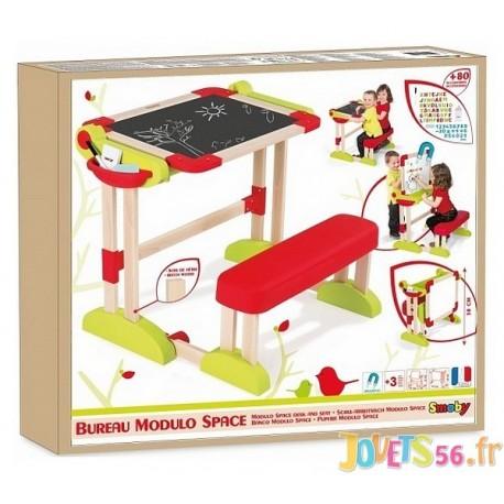 BUREAU MODULO SPACE TRANSFORMABLE BOIS - Jouets56.fr - Magasin jeux et jouets dans Morbihan en Bretagne