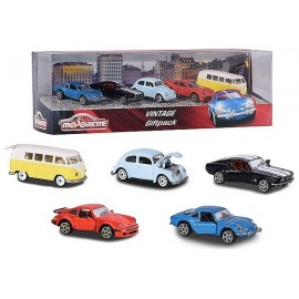 PACK 5 VEHICULES VINTAGE 1.64E METAL