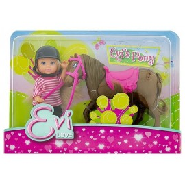 POUPEE 12CM EVI LOVE ET SON PONEY ASST