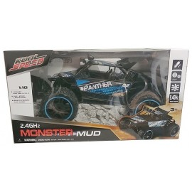 VOITURE BUGGY DESERT RADIOCOM. 2.4GHZ 1.10E MONSTER MUD