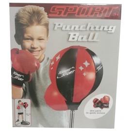 PUNCHING BALL SUR PIED 90A130CM AVEC GANTS