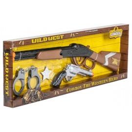 COFFRET SHERIF 2 ARMES PISTOLET ET FUSIL SONORES