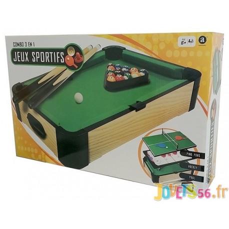 TABLE DE JEUX 3EN1 50X30CM - Jouets56.fr - LiloJouets - Magasins jeux et jouets dans Morbihan en Bretagne