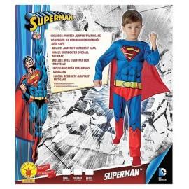 DEGUISE. SUPERMAN CLASSIQUE 5-6 ANS TAILLE M COMIC BOOK