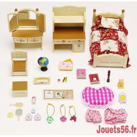 CHAMBRE JEUNE FILLE SYLVANIAN-jouets-sajou-56