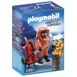 5367-POMPIER AVEC COMBINAISON INCENDIE-jouets-sajou-56