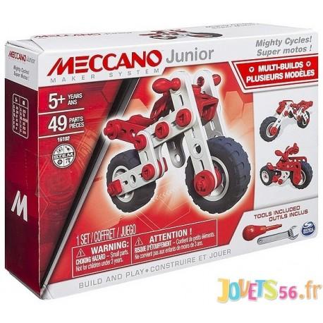 SUPER MOTO MECCANO JUNIOR - Jouets56.fr - LiloJouets - Magasins jeux et jouets dans Morbihan en Bretagne