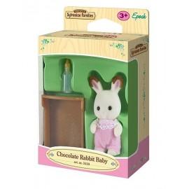 BEBE LAPIN CHOCOLAT SYLVANIAN-jouets-sajou-56