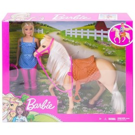COFFRET POUPEE BARBIE ET SON CHEVAL