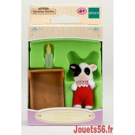 BEBE VACHE BRETONNE SYLVANIAN-jouets-sajou-56