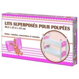 LITS SUPERPOSES BOIS POUR POUPEES ET POUPONS - Jouets56.fr - LiloJouets - Magasins jeux et jouets dans Morbihan en Bretagne