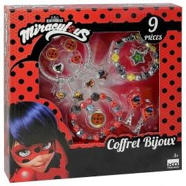 COFFRET BIJOUX LADYBUG MIRACULOUS 9PCES