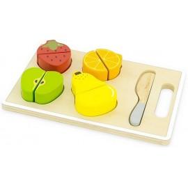 PLANCHE A DECOUPER FRUITS BOIS 6PCES