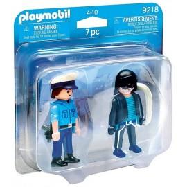 9218 PACK DUO POLICIER ET VOLEUR PLAYMOBIL  - Jouets56.fr - LiloJouets - Magasins jeux et jouets dans Morbihan en Bretagne