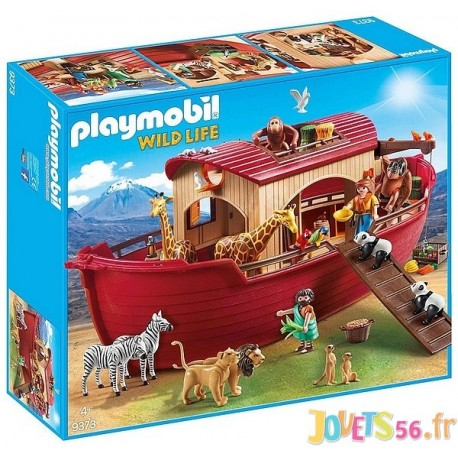 9373 ARCHE DE NOE AVEC ANIMAUX PLAYMOBIL WILD LIFE - Jouets56.fr - LiloJouets - Magasins jeux et jouets dans Morbihan en Bretagn