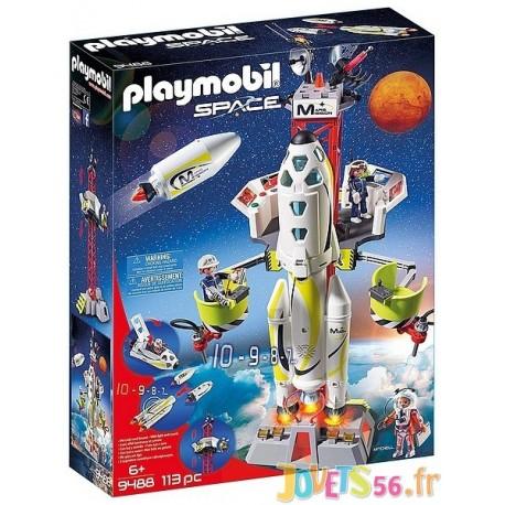 9488 FUSEE MARS AVEC PLATEFORME DE LANCEMENT PLAYMOBIL SPACE - Jouets56.fr - LiloJouets - Magasins jeux et jouets dans Morbihan