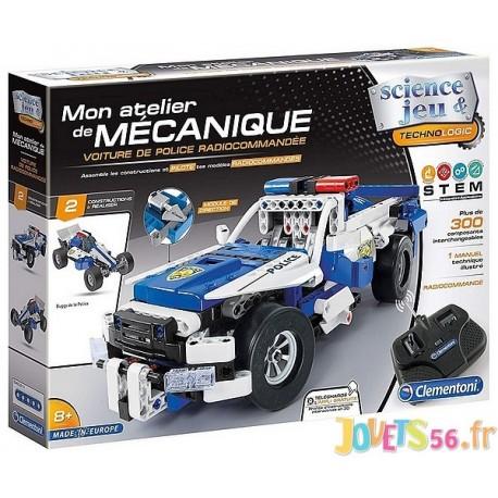 VOITURE DE POLICE RADIOCOM MON ATELIER DE MECANIQUE - Jouets56.fr - LiloJouets - Magasins jeux et jouets dans Morbihan en Bretag