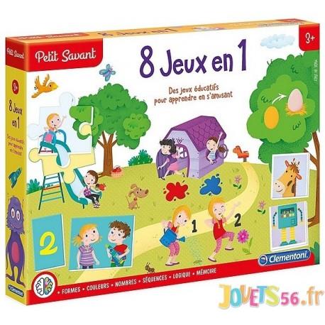 COFFRET 8 JEUX EN 1 PETIT SAVANT - Jouets56.fr - LiloJouets - Magasins jeux et jouets dans Morbihan en Bretagne