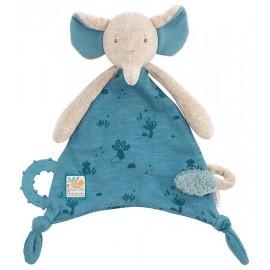 DOUDOU ATTACHE TETINE ELEPHANT SOUS MON BAOBAB - Jouets56.fr - LiloJouets - Magasins jeux et jouets dans Morbihan en Bretagne