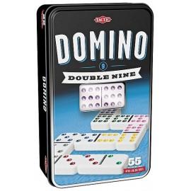 DOMINOS DOUBLE 9 BOITE METAL - Jouets56.fr - LiloJouets - Magasins jeux et jouets dans Morbihan en Bretagne