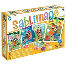 SABLIMAGE ANIMAUX MUSICIENS 4 TABLEAUX - Jouets56.fr - LiloJouets - Magasins jeux et jouets dans Morbihan en Bretagne