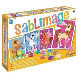 SABLIMAGE LICORNES 4 TABLEAUX - Jouets56.fr - LiloJouets - Magasins jeux et jouets dans Morbihan en Bretagne