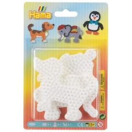 3 PLAQUES ELEPHANT PINGOUIN CHIEN PM HAMA - Jouets56.fr - LiloJouets - Magasins jeux et jouets dans Morbihan en Bretagne