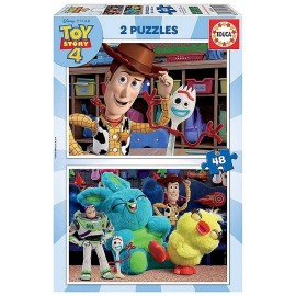 PUZZLE TOY STORY4 2X48 PIECES