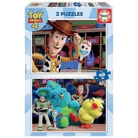 PUZZLE TOY STORY4 2X48 PIECES - Jouets56.fr - LiloJouets - Magasins jeux et jouets dans Morbihan en Bretagne