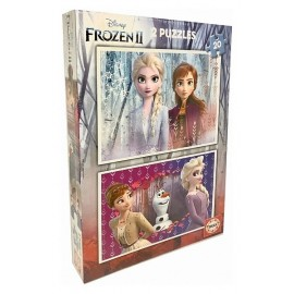 PUZZLE FROZEN2 2X20 PIECES REINE DES NEIGES 2