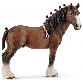 FIGURINE CHEVAL HONGRE MARRON CLYDESDALE