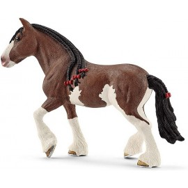 FIGURINE JUMENT MARRON CLYDESDALE
