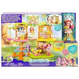CAFE JUNGLE WOOD ENCHANTIMALS AVEC FIGURINE 15CM